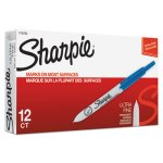 sharpie-retractable-ultra-fine-tip-permanent-marker-blue-dozen-san1735792