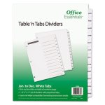 Office Essentials Table 'N Tabs Dividers, 12-Tab, Months, 1 Set (AVE11678)