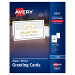 Avery Inkjet-Compatible Greeting Cards with Envelopes, 30 Cards (AVE8316)
