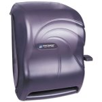 San Jamar Lever Roll Towel Dispenser, Plastic, Black (SAN T1190TBK)
