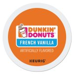 Dunkin Donuts K-Cup Pods, Light Roast, French Vanilla, 24/Box (GMT81467)