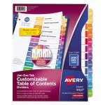Avery Ready Index Table of Contents Full Year Divider, Letter (AVE11127)