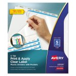 Avery Index Maker Punched Dividers with Pocket, Clear 5-Tab, Letter (AVE23120)