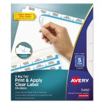 Avery Index Maker with Big Tab, 11x8-1/2, 5-Tab, White, 5 Sets/Pack (AVE11492)