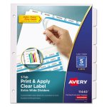 avery-index-maker-clear-label-dividers-5-tab-11-1-4-x-9-1-4-5-sets-ave11440