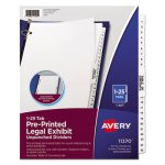 Avery-Style Legal Side Tab Divider, Title: 1-25, Letter, White, 1 Set (AVE11370)