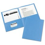 Avery Two-Pocket Portfolio, 30-Sheet Capacity, Blue, 25 Portfolios (AVE47986)