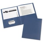 Avery Two-Pocket Portfolio, Embossed, 30-Sheet Capacity, Blue, 25/Box (AVE47985)