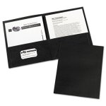 Avery 2-Pocket Embossed Paper Portfolio, 30-Sheet Capacity, 25/BX (AVE47988)