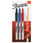 Sharpie Retractable Permanent Markers, Fine Point, Assorted, 3/Set (SAN32726PP)