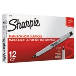 Sharpie 37001 Permanent Markers, Ultra Fine Point, Black, Dozen (SAN37001)