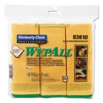 Wypall Microfiber Cleaning Cloths 15.75 x 15.75, Yellow, 6 Cloths (KCC83610)