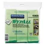 Wypall Microfiber Cleaning Cloths, 15.75 x 15.75, Green, 6 Cloths (KCC83630)