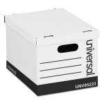 Universal Storage Box, Lift-Off Lid, White, 12 per Carton (UNV95223)
