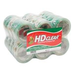 "Duck Heavy-Duty CT Packaging Tape, 1.88"" x 55 yards, Clear, 24/Pack (DUC393730)"