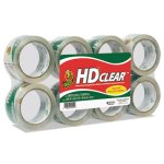 duck-heavy-duty-carton-packaging-tape-188-x-55-yards-clear-8-pk-duc282195