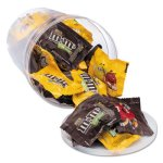 Candy Tubs, Chocolate and Peanut M&Ms, 1.75 lb Resealable Plastic Tub (OFX00066)