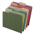 Pendaflex Recycled File Folders, 1/3 Tab, Assorted, 50 per Box (PFX04350)