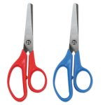 universal-kids-scissors-5-length-rounded-assorted-2-scissors-unv92024