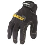 Ironclad General Utility Spandex Gloves, 1 Pair, Black, Large (IRNGUG04L)