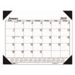 doolittle-refillable-monthly-desk-pad-calendar-22-x-17-black-2018-hod124