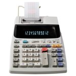 Sharp 2-Color Printing Calculator, 12-Digit Fluorescent, Black/Red (SHREL1801V)