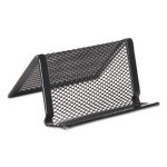 universal-mesh-metal-business-card-holder-black-each-unv20005