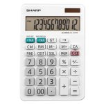 Sharp EL-334W Large Desktop Calculator, 12-Digit LCD (SHREL334W)
