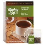 Mighty Leaf Whole Leaf Tea Pouches, Green Tea Tropical, 15 Pouches (PEE510138)