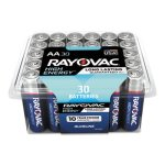 Rayovac Alkaline Battery, AA, 1.5 Volt, 30 Batteries (RAY81530PPK)