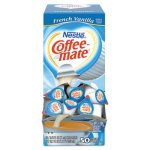 Coffee-mate Liquid Coffee Creamer, French Vanilla, 50 Mini Cups (NES35170BX)
