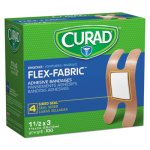 Curad Flex Fabric Bandages, Knuckle, 100/Box (MIINON25510)