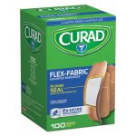 Curad Flex Fabric Bandages, Assorted Sizes, 100 per Box (MIICUR0700RB)
