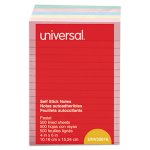 universal-self-stick-notes-4-x-6-lined-4-pastel-colors-5-pads-unv35616