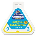 Trend Addition/Subtraction Three-Corner Flash Cards, 6 & Up, 48/Pack (TEPT1670)
