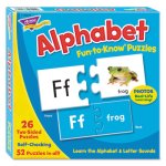 Trend Fun to Know Puzzles, Alphabet, Ages 3+, 52 Puzzles (TEPT36002)