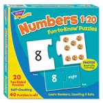 Trend Fun to Know Puzzles, Numbers 1-20, Ages 3 and Up, Each (TEPT36003)