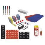 Mastervision Magnetic Board Accessory Kit, Blue/Red (BVCKT1317)