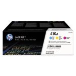 HP 410A,  3-pack Cyan/Magenta/Yellow LaserJet Toner Cartridges (HEWCF251AM)
