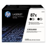 HP 87X,  2-pack High Yield Black Original LaserJet Toner Cartridges (HEWCF287XD)
