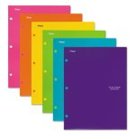 five-star-four-pocket-portfolio-asstd-colors-trend-design-6-folders-mea38056