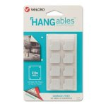 Velcro HANGables Removable Wall Fasteners, White, 16 Fasteners (VEK95184)