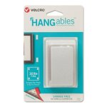 Velcro HANGables Removable Wall Fasteners, 0.875 x 4.5, White, 8/Pack (VEK95187)