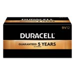 Duracell Batteries w/ Power Preserve Technology, 9V, 12 per Pack (DURMN1604BKD)