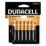 Duracell Alkaline Batteries with Duralock Power, AAA, 12/Pack (DURMN24RT12Z)