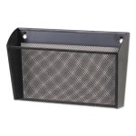 Universal Metal Mesh Wall FileSingle Pocket 13-3/8 x 3 x 13, Ltr, BLK (UNV20026)