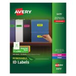 Avery Removable Color-Coding Labels, 1 x 2-5/8, Asstd Neon, 360 Labels (AVE6479)