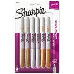 Sharpie Metallic Permanent Markers, Assorted, 6/Pack (SAN1829201)