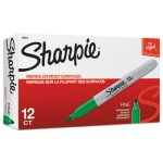 sharpie-30004-permanent-marker-fine-point-green-dozen-san30004