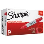 sharpie-permanent-marker-53mm-chisel-tip-red-dozen-san38202